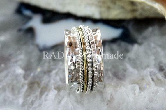 925 Silver Spinner Ring* Narrow Band Spinner Ring*Meditation Ring*Statement Ring*Handmade Ring*Yoga Ring*Wide Band Ring*Silver Spinner Ring