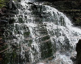 Lye Brook Falls (redeux)----- Landscape Giclée Print by Alan Del Vecchio