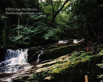 Adirondack Waterfall------- Landscape Giclée Print by Alan Del Vecchio