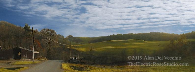 Black Creek Dairy Landscape Giclée Print by Alan Del image 0