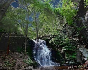 Bridal Veil Falls ------- Landscape Giclée Print by Alan Del Vecchio
