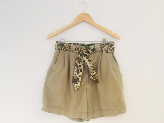 Bogner vintage khaki shorts, high waisted shorts,