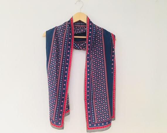 vintage Hattie Carnegie scarf, vintage silk scarf,