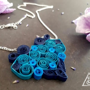 Mandala Style Magic Paper Necklace Paper Art