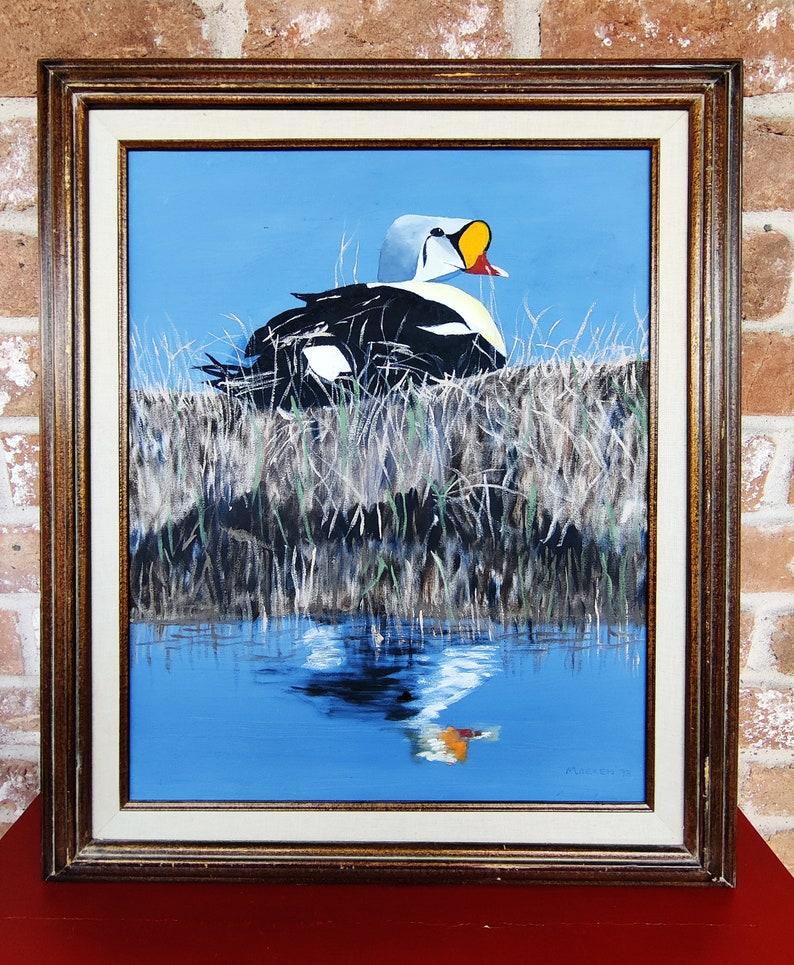 King Eider Oil Painting by Marxen Original Art Duck Paintings
