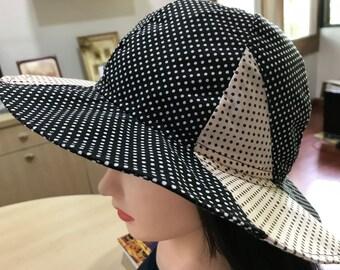 dd453cf5a Polka dot bucket hat | Etsy