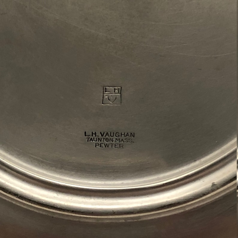 #0114JW Massachusetts Gift Made in USA Antique Bowl LH Vaughan Pewter Bowl Vintage Bowl Vintage Pewter Pewter Collectible