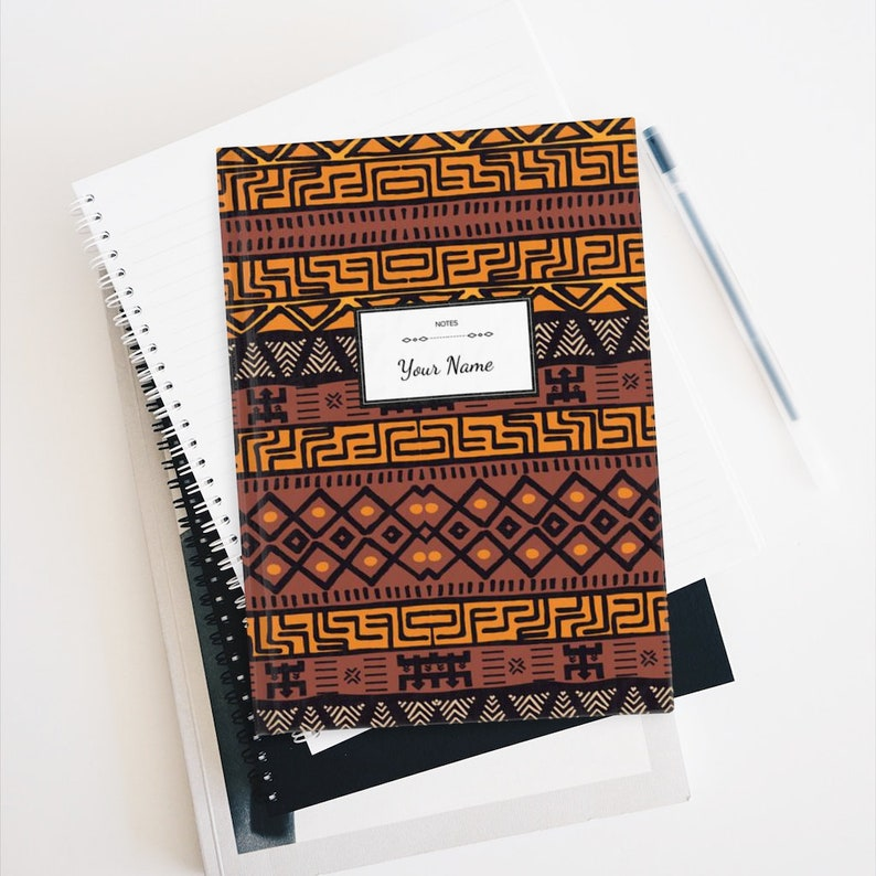 Personalized African Print Journal  Hardcover 128 Page image 0