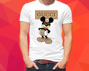 84709bfc Gucci Mickey Mouse T-shirt Womans Tshirt Men Shirt Gucci gift for him/her  100% Cotton