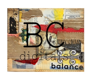 Balance - Digital Collage Print by Beverly Cole