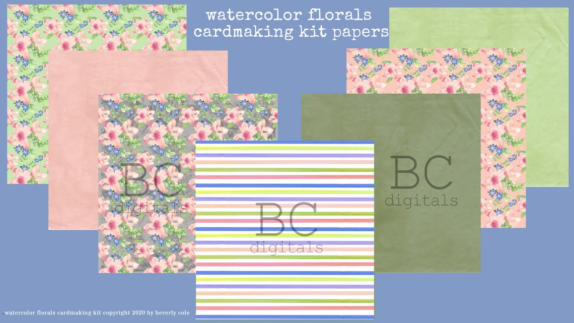 Watercolor Florals Cardmaking Kit Makes a Perfect Gift for image 1