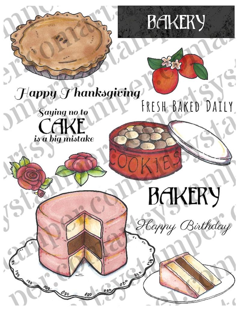 Beverly's Bakery Stamp Set including 2 BONUS line images image 0