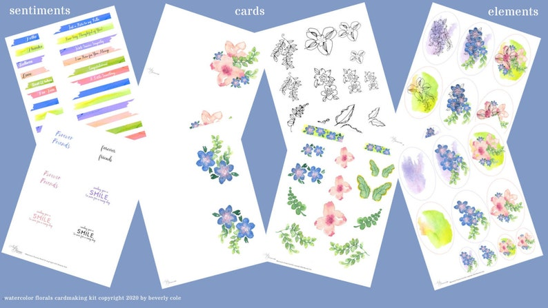 Watercolor Florals Cardmaking Kit Makes a Perfect Gift for image 0