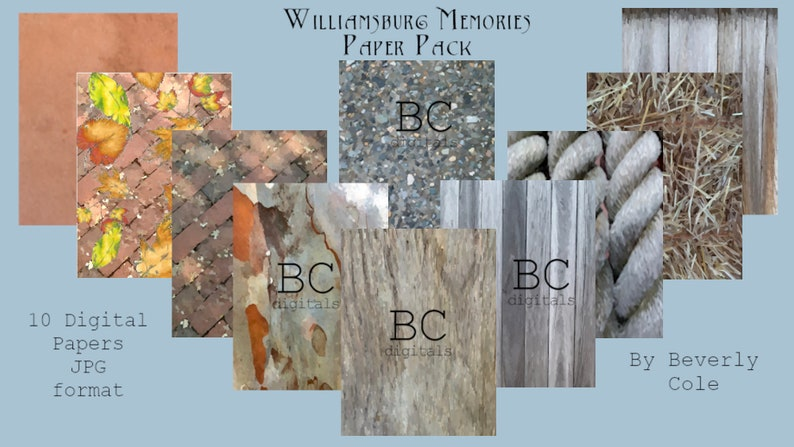 Williamsburg Memories Paper Pack for Paper Crafting. Ten image 0