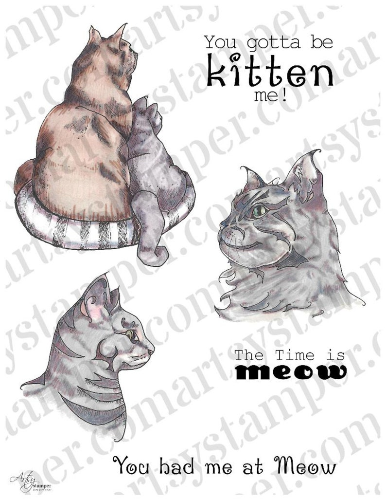 Cats Meow Stamp Set for Creating Quick and Easy  Paper Crafts image 0