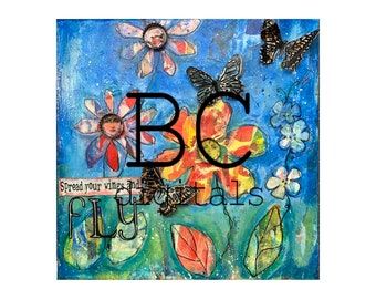 Fly and Be Free -  Collage Print by Beverly Cole