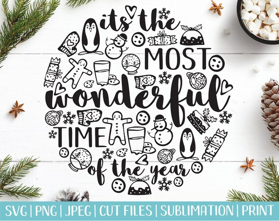 Christmas Sayings Svg Merry Christmas Quotes Svg Vector Etsy
