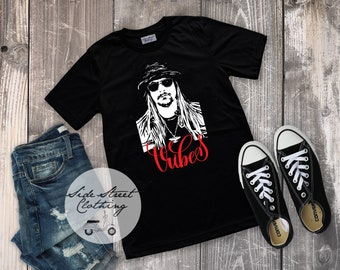 1852e9dca Kid Rock Vibes T Shirt - sizes 6 months through Adult 3XL - Men, woman,  youth, girls, toddler, infant, baby, concert, gift, festival