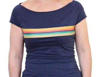 Doctor Who Logo 13e Docteur Tardis T-Shirt Manches Courtes Noir M