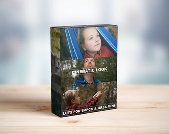 Cinematic Film LUTs for BMPCC LUTs