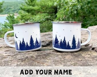 Forest Wraparound Custom Campfire Mugs