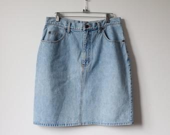 7ab825cef4 Vintage Eddie Bauer Denim Skirt
