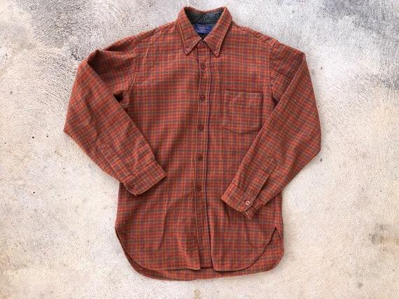 Vintage 1960s Pendleton Flannel Shirt One Pocket