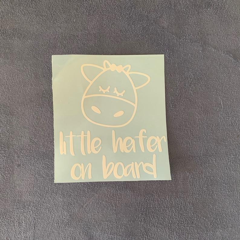 On Board Decal s Little Heifer