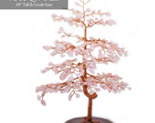 Feng Shui Tree of Life with Rose Quartz Leaves