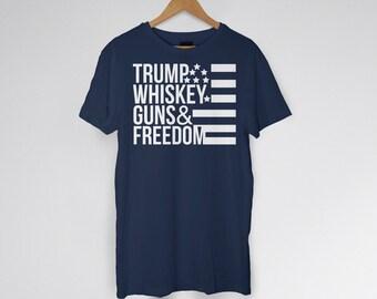 356b3343d0 Trump Guns Freedom T-shirt / MAGA / Trump Gifts / Funny Trump / Trump Tee / Donald  Trump / Patriotic Gifts / Trump Fathers Day / MAGA / GOP