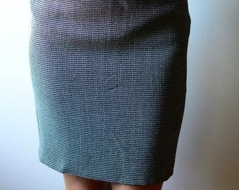 Byblos 1990s patterned pencil skirt | vintage nineties high waist mini-skirt Ital size 40