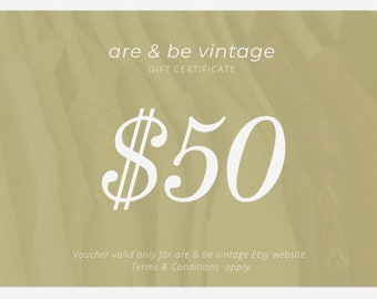 are & be gift certificate 50
