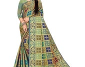 Banarasi silk sari in woven design