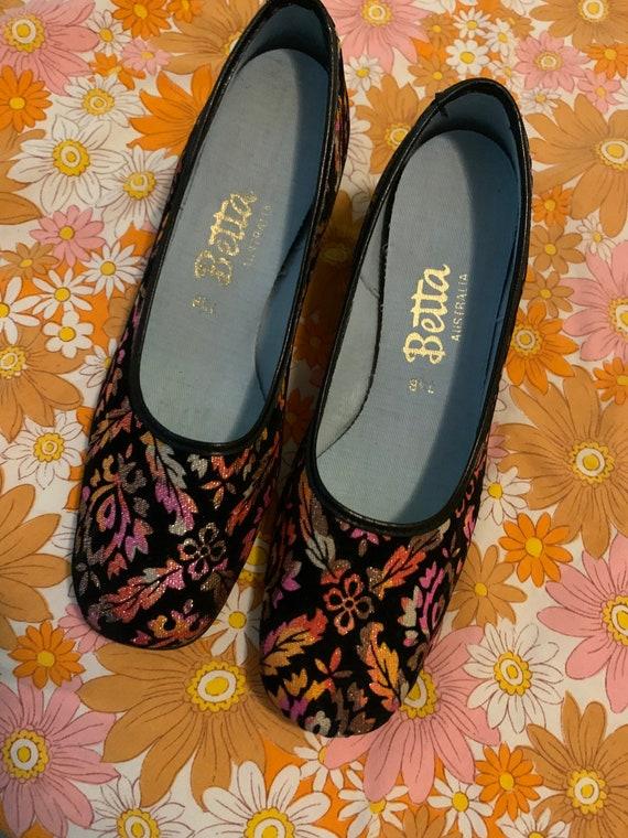 True vintage ribbon 1960's shoes