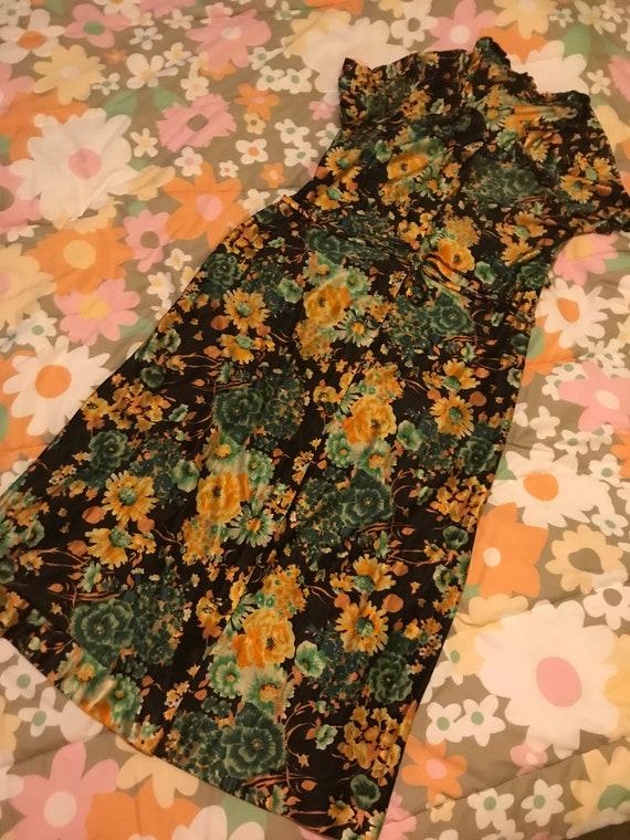 1970's vintage flower power maxi dress