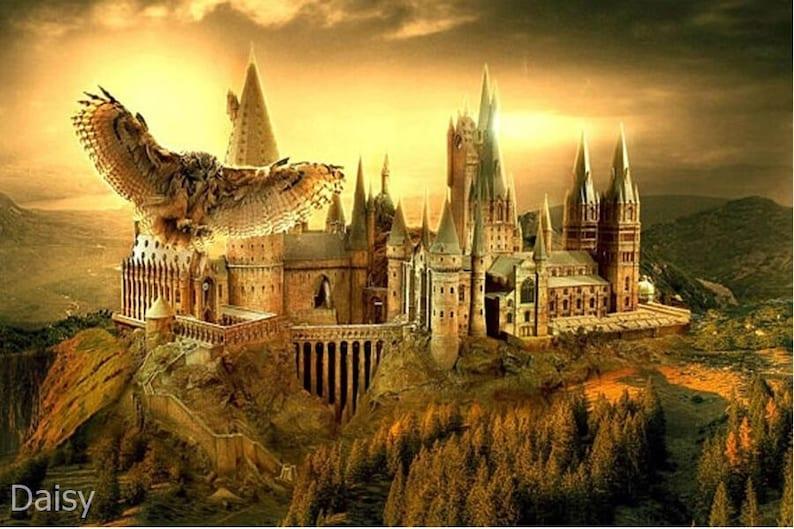 Harry Potter Houses Diamond painting Kit 60 cm x 30 cm like cross stitch