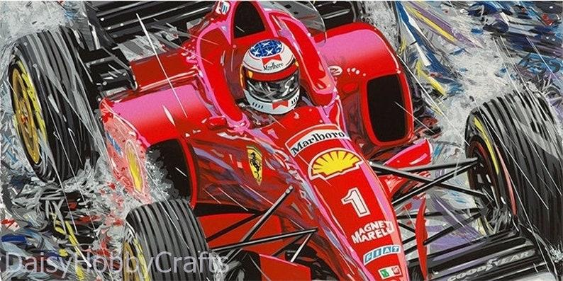 Full SquareRound Drill 5D DIY Diamond Painting Formula 1 Ferrari Cartoon Art F1 Racing Car Embroidery Cross Stitch Mosaic Home Decor Gift