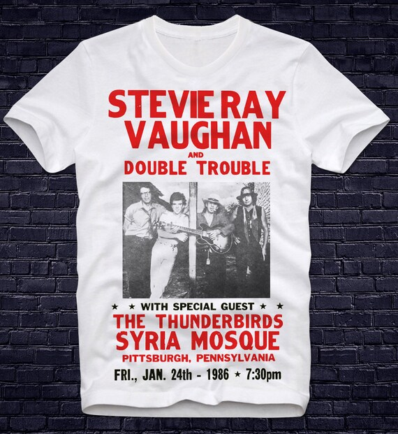Stevie Ray Vaughan 1984 Tour Fitted Jersey Tee Unisex