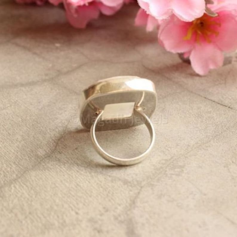Dainty Ring Boho Ring Handmade Ring 925 Silver Ring Statement Ring Moonstone Ring Gift Ring Gemstone Ring Gemstone Ring