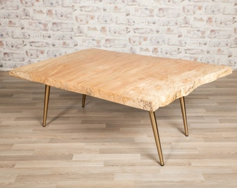 Maple Coffee Table with Gold Legs