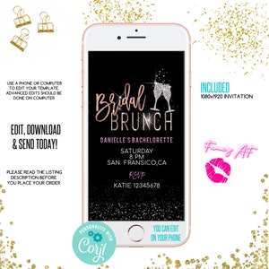 Corjl Electronic Bachelorette Party Orange Bachelorette Citrus Bachelorette Weekend Invitation Evite WP543 Cell phone invitation