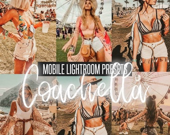 Mobile Lightroom Presets Coachella, Festival, Instagram presets,light,Lightroom mobile presets, blogger presets, photo filter, summer preset