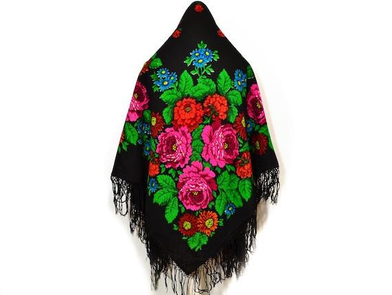 Pure wool Russian shawl Ukrainian shawl Chale russ