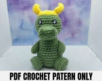 Tricky Swamp Puppy Crochet PATTERN, PDF Pattern