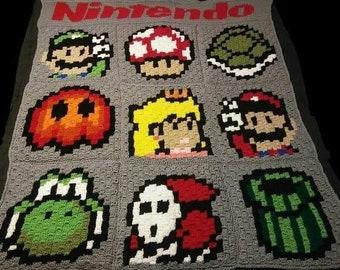 Mario Gamer Blanket *PATTERN ONLY*