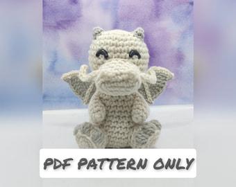 Little Luck Dragon Crochet PATTERN PDF