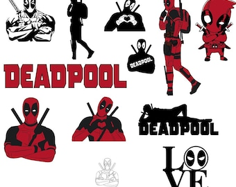 dc81193e Deadpool,vector image, silhouette, vector files, cameo silhouette, clipart  svg, images, image set, image collection