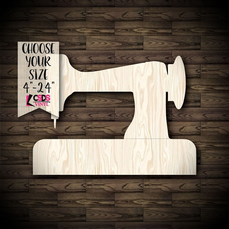 Sewing Machine Wood Cut Out Choose from 21 Sizes