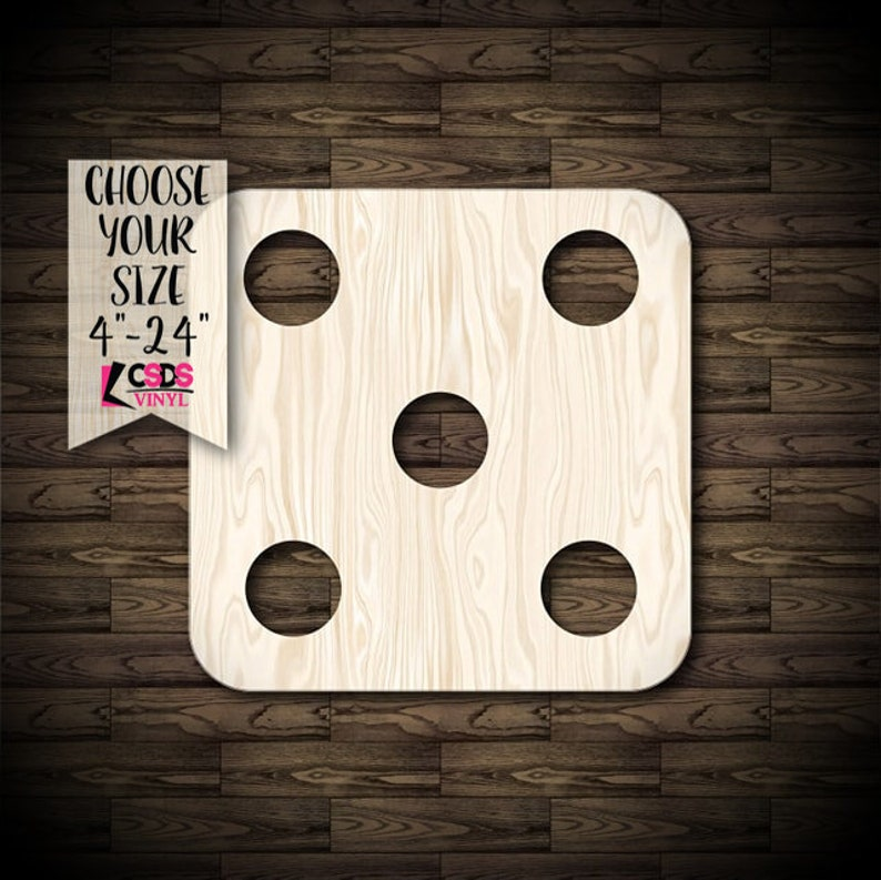 Domino Piece Wood Cut Out Choose from 21 Sizes