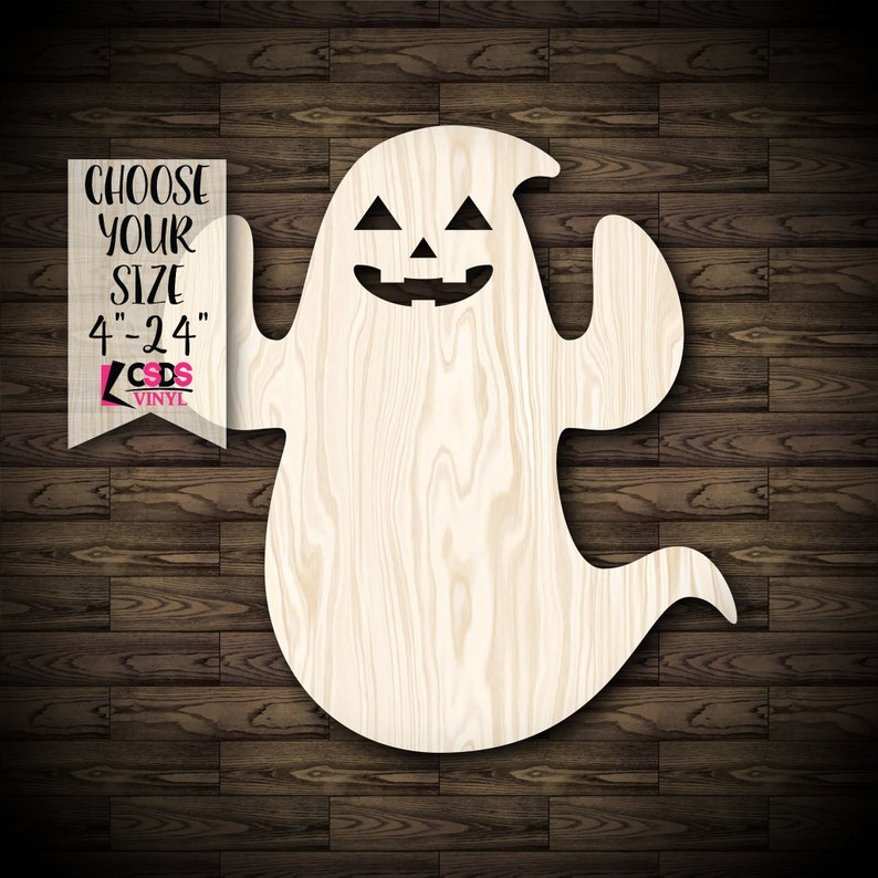 Silly Ghost Halloween Decor Wood Cut Out Choose from 21 Sizes
